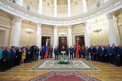 Патриарху Кириллу иМатвиенко вручили знаки почетного гражданина Петербурга
